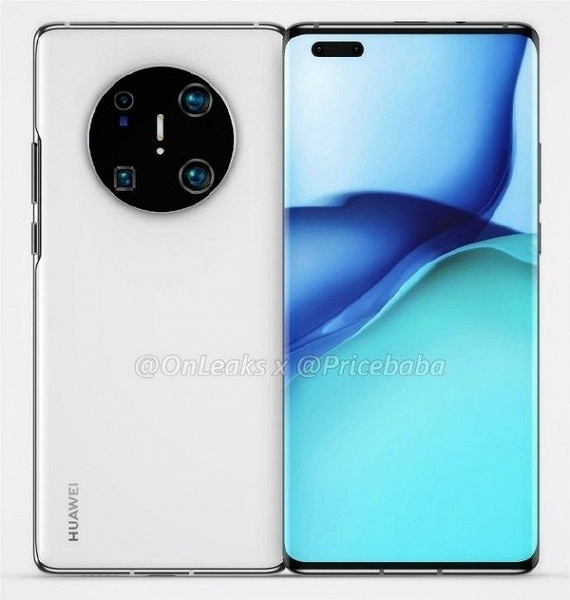 Живое фото подтверждает форму экрана Huawei Mate 40 Pro