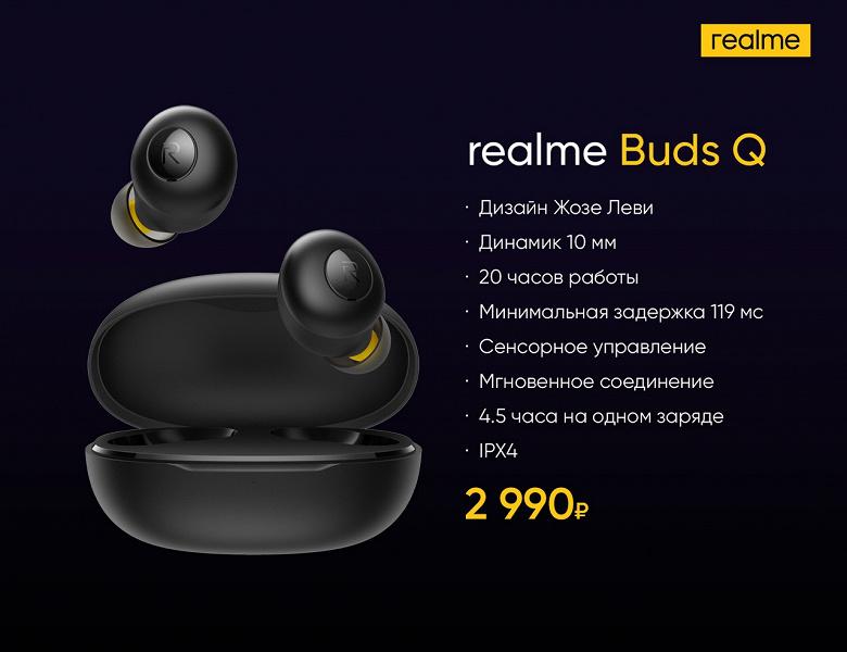 Бюджетные хитовые беспроводные наушники Realme Buds Q приехали в Россию