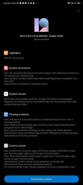 Пользователи Redmi Note 9 Pro дождались MIUI 12