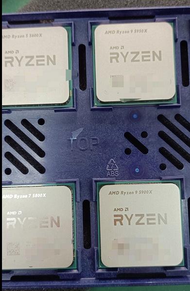 Опубликовано первое «живое» фото процессоров AMD Ryzen 5000