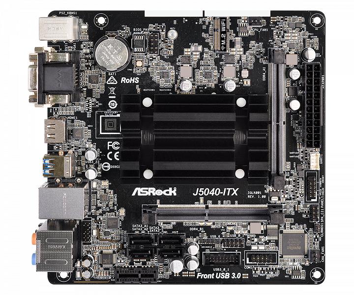 Плата ASRock J5040-ITX появилась в продаже