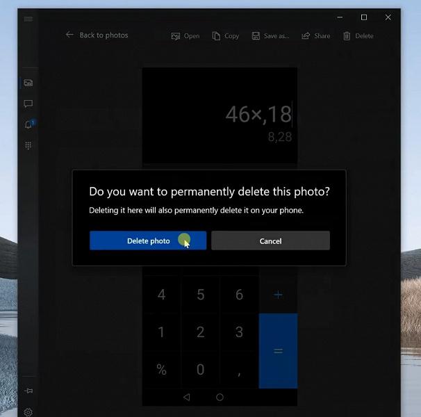 Windows 10 позволяет полностью удалять фото с подключенного смартфона