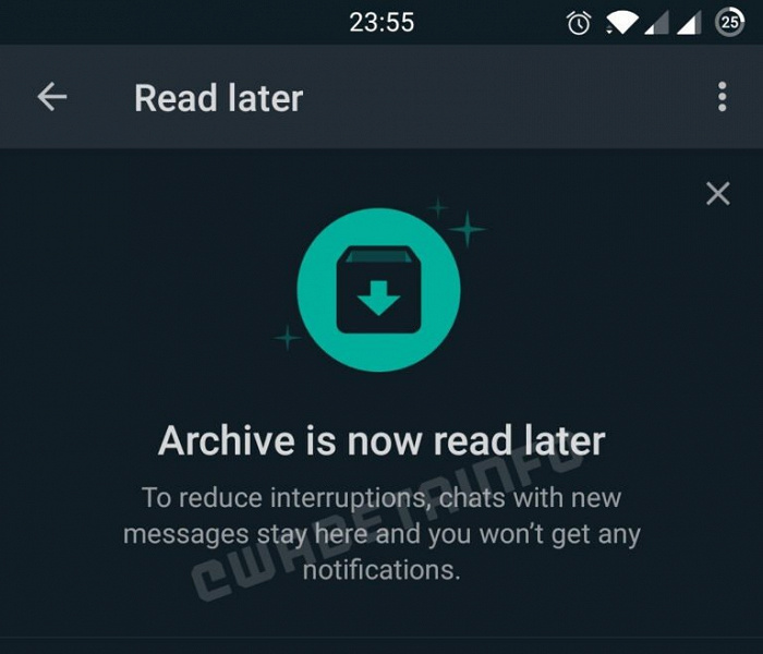 Новшество WhatsApp для большого потока сообщений. «Прочитать позднее» приходит на смену архиву