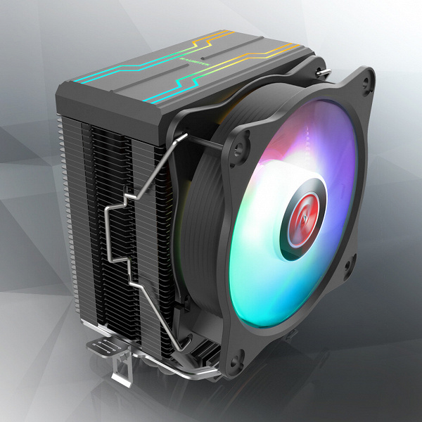 Кожух и вентилятор процессорной системы охлаждения Raijintek Eleos RBW украшены адресуемой подсветкой
