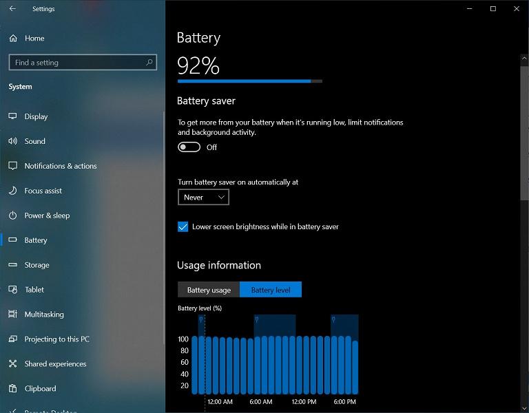 Подсмотрено в Android. Microsoft встроила в Windows 10 расширенную статистику расхода аккумулятора ноутбука