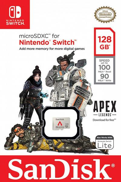 Western Digital выпускает карту памяти SanDisk Apex Legends для Nintendo Switch
