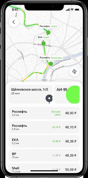 Болшое обновление Яндекс.Заправок. АЗС по маршруту, сравнение цен, заправка до полного бака