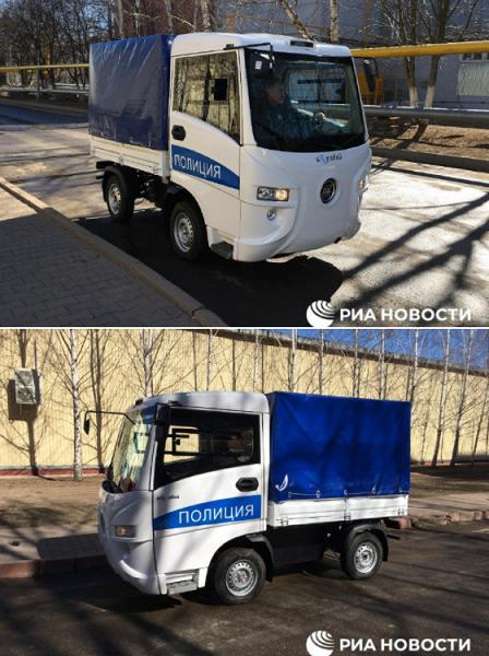 «Муравей» — небольшой электрический грузовичок российского производства для полиции