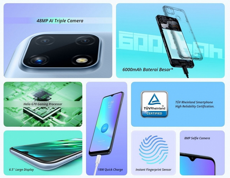 6000 мА•ч, быстрая зарядка, 48 Мп и Helio G70 за $150. Стартовали продажи Realme C25