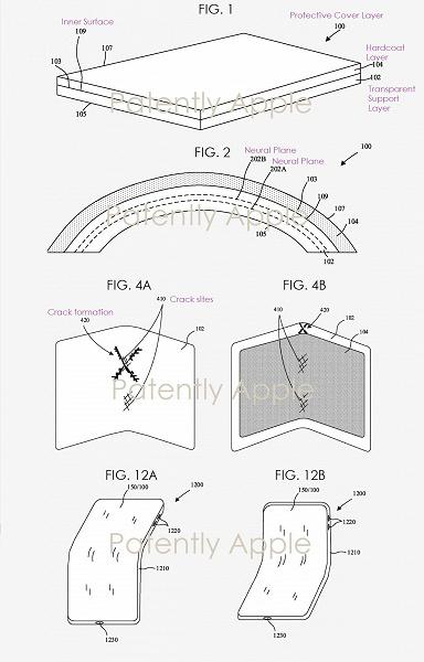 В Apple придумали, как предотвратить растрескивание складных дисплеев в месте сгиба