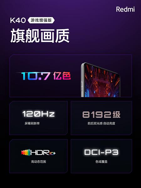 MIUI 12.5 из коробки, Dimensity 1200, 120 Гц, 64 Мп, 5065 мА·ч, 67 Вт за 310 долларов. Представлен Redmi K40 Game Enhanced Edition – самый доступный и самый легкий игровой смартфон