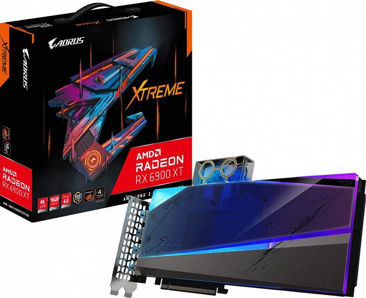 Видеокарта Aorus Radeon RX 6900 XT Xtreme WaterForce WB 16G появилась в каталоге Gigabyte