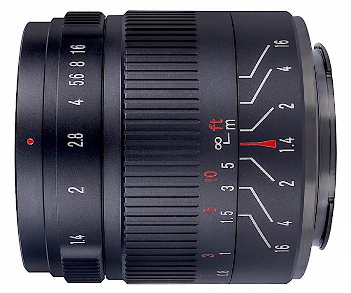 Объектив 7Artisans 55mm f/1.4 II предназначен для беззеркальных камер формата APS-C и Micro Four Thirds