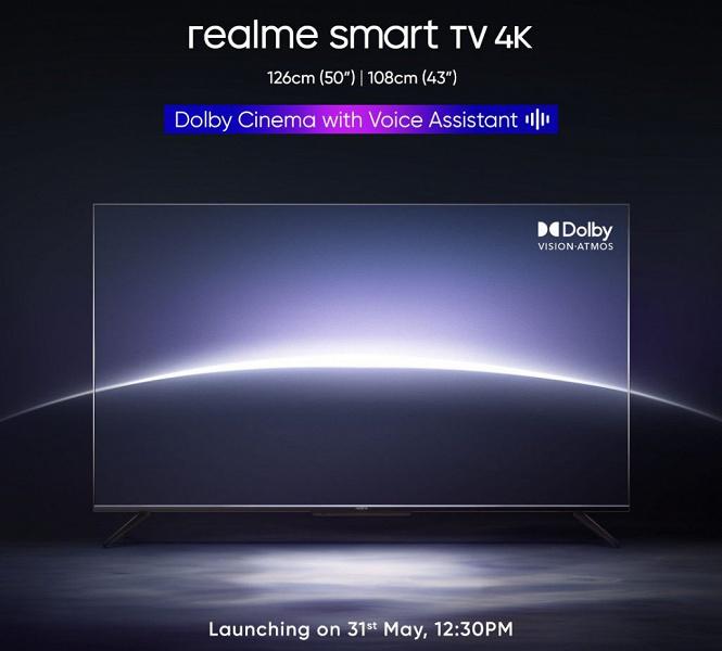 Анонсированы новые 4K-телевизоры Realme