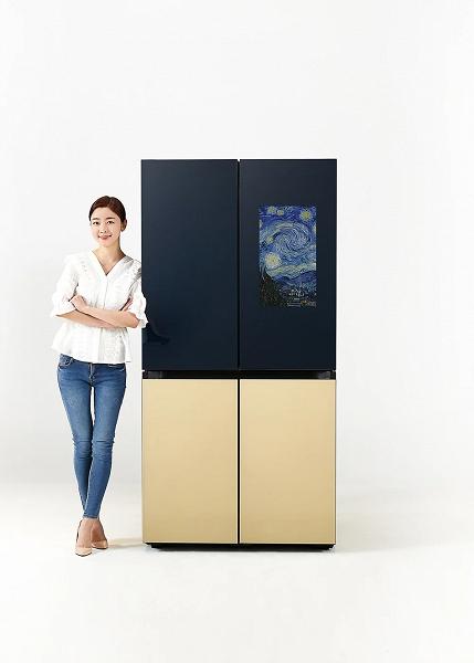 Представлен четырёхдверный холодильник с умным экраном Samsung Bespoke с функциями Family Hub