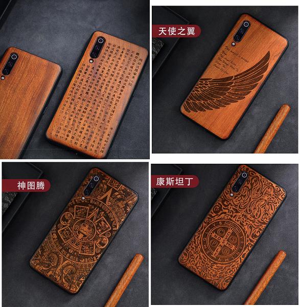 Красивые деревянные чехлы для смартфонов Xiaomi, Redmi и Poco предлагаются по $8,5