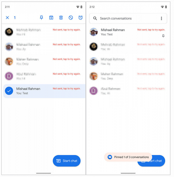 WhatsApp и Telegram умеют так много лет: в главном мессенджере Android, Google Messages, появятся закреплённые чаты и помеченные сообщения
