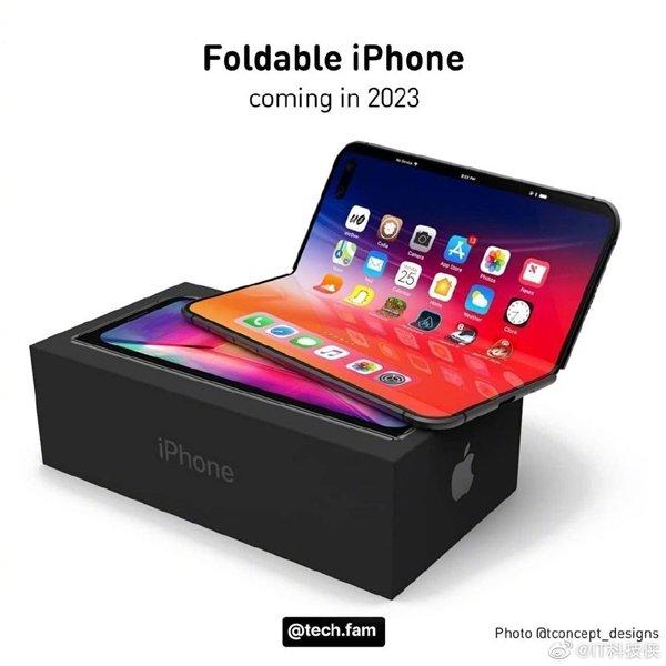 Возможный складной iPhone показали на рендерах – с врезанной фронтальной камерой и датчиками системы FaceID