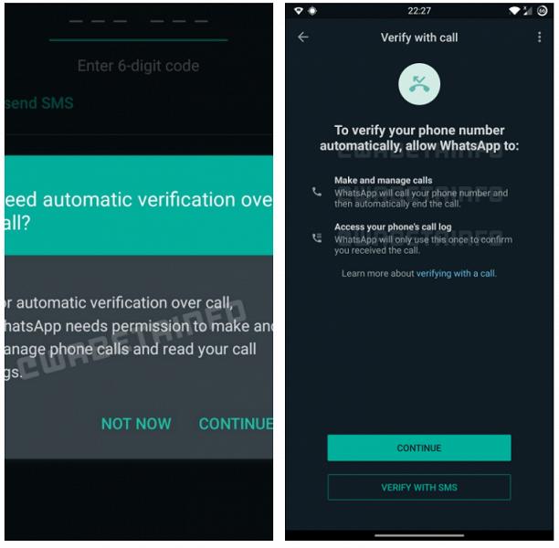 Эксклюзив для Android: в WhatsApp разрешать автоматически входить «по звонку»