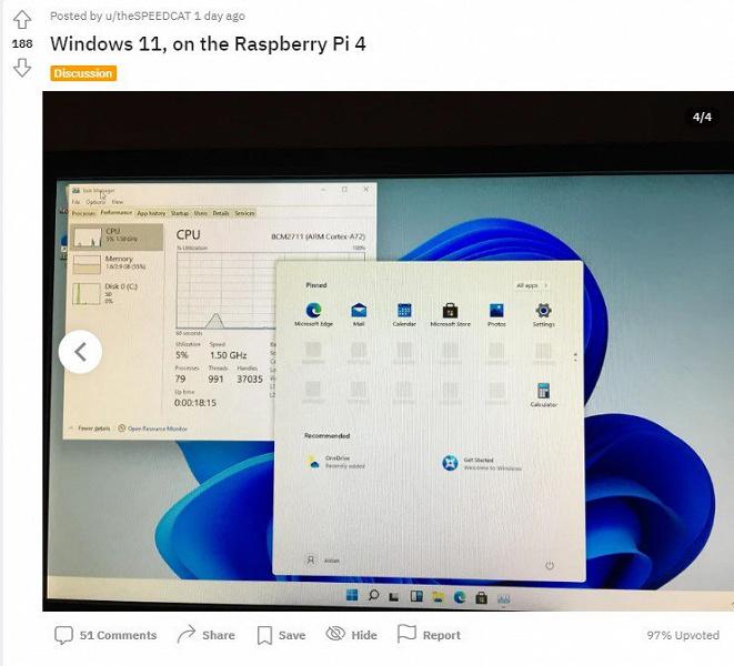Энтузиаст запустил Windows 11 на шестилетнем смартфоне Lumia 950 XL, а другой установил новейшую ОС Microsoft на Raspberry Pi 4