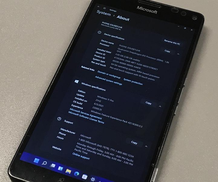 Windows 11 работает на шестилетнем смартфоне Lumia 950 XL. Как — показано в видеоролике