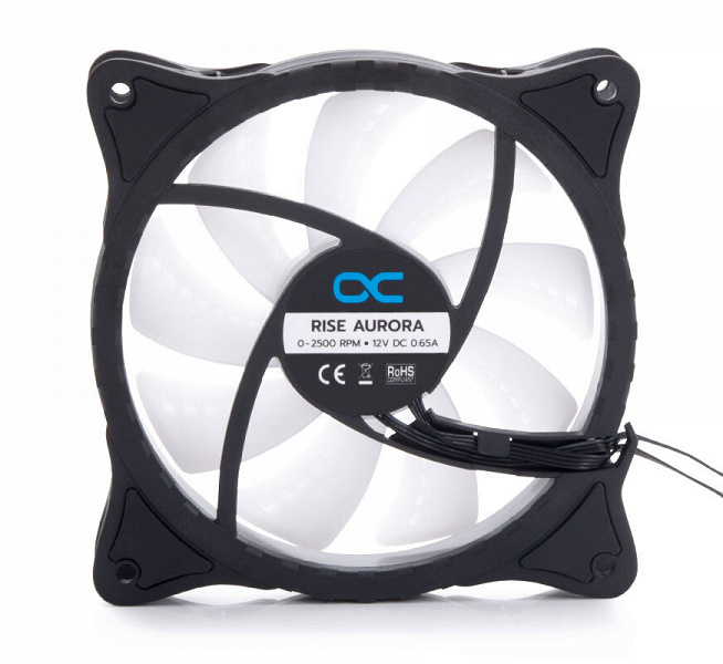 Вентилятор Alphacool Rise Aurora украшен 20 адресуемыми светодиодами