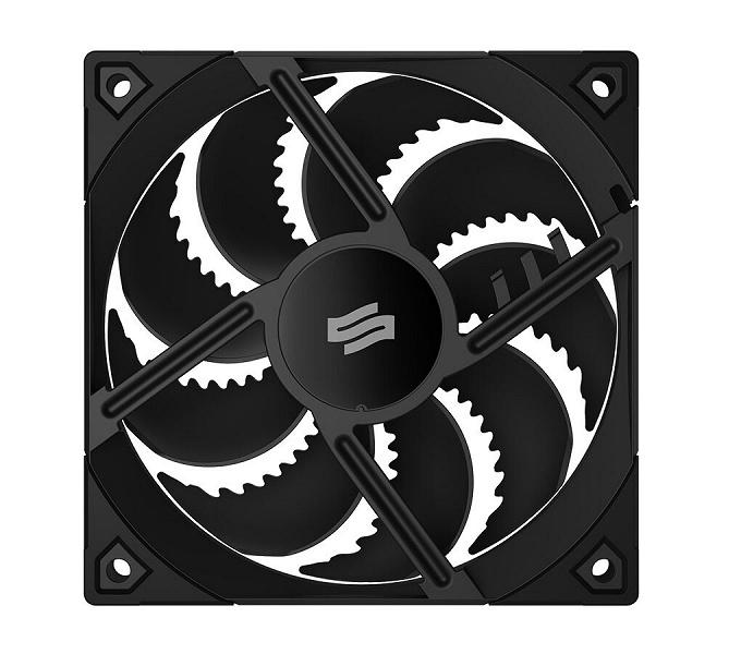 Форма лопастей вентилятора SilentiumPC Fluctus 120 PWM выбрана с учетом психоакустических соображений