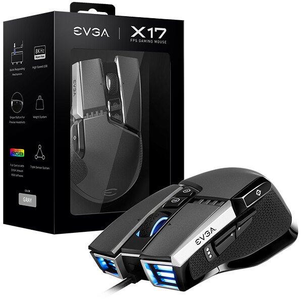 Игровые мыши EVGA X17 и X15 поддерживают технологию Nvidia Reflex