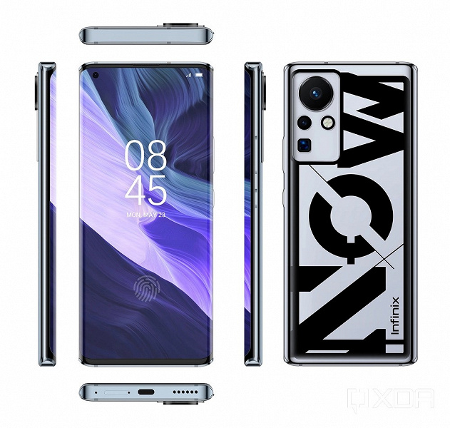 Смартфон, который не похож на флагманы 2021 года. Infinix готовит аппарат с экраном-водопадом и без физических кнопок