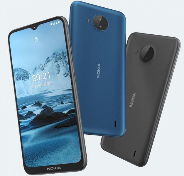 4950 мА·ч, двойная камера и Android 11 за 110 долларов. Представлен недорогой смартфон Nokia C20 Plus