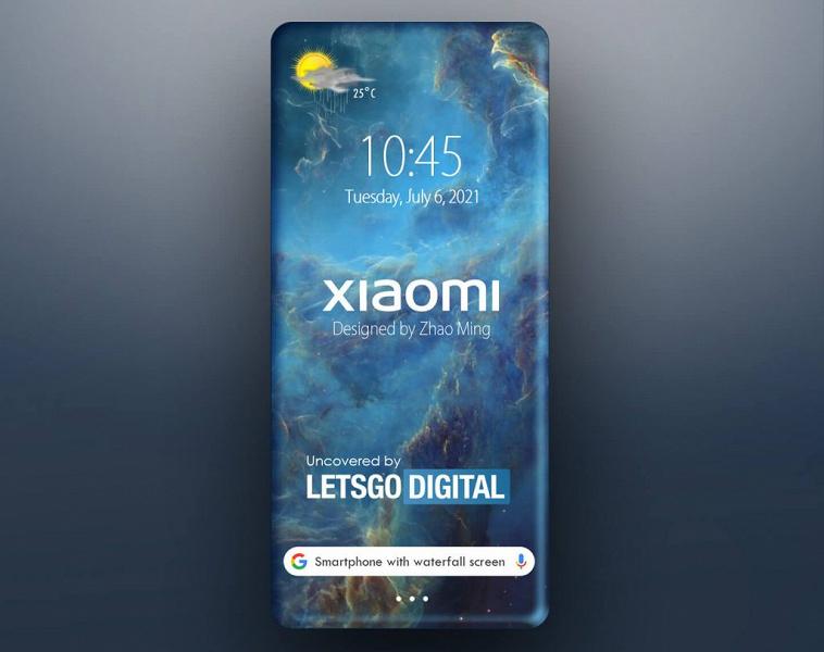 Смартфон Xiaomi с экраном, загнутым на все четыре стороны, показали на рендере. Так может выглядеть преемник Mi Mix Alpha
