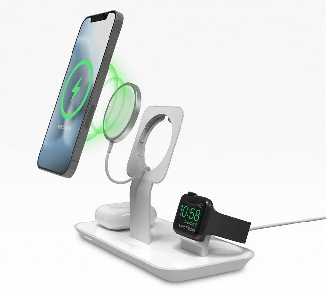 Беспроводная зарядка для iPhone 12, Apple Watch иAirPods. Новинка Mophie не содержит в комплекте блок MagSafe