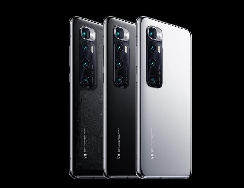 Xiaomi продала более 5,5 миллионов смартфонов серии Mi 10