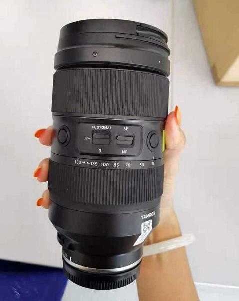 Появились «живые фото» объектива Tamron 35-150mm F/2-2.8 Di III VXD (Model A058)
