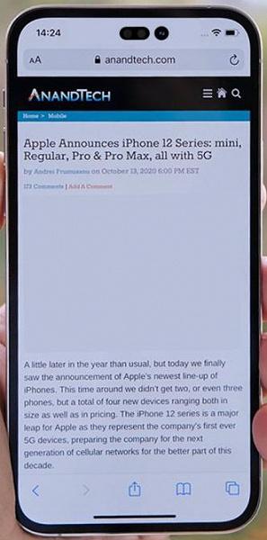 «Отверстия в экране iPhone 14 будут выглядеть примерно так», — известный инсайдер опубликовал странное фото