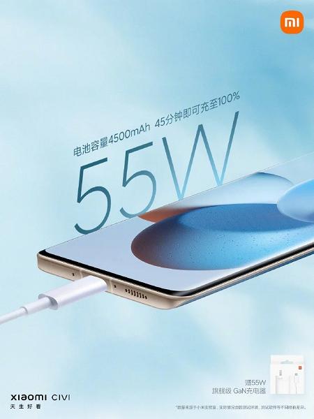 Xiaomi Civi стал первым не флагманским телефоном компании без зарядного устройства в комплекте, но его всё равно дарят покупателям