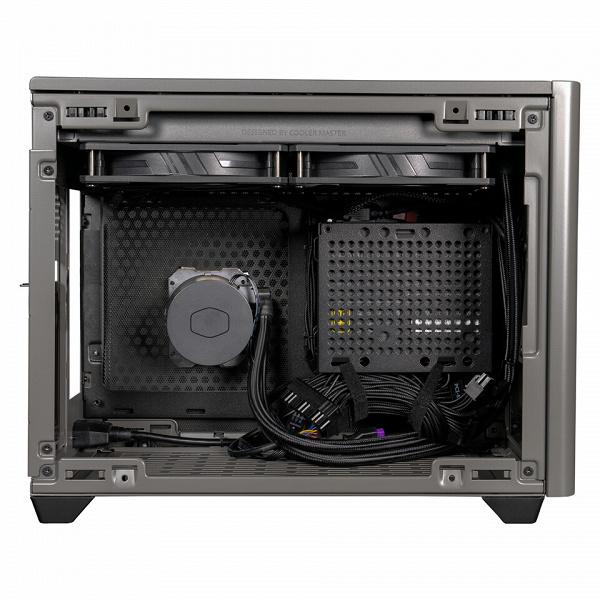Корпус Cooler Master NR200P Max рассчитан на плату типоразмера mini-ITX и укомплектован СЖО