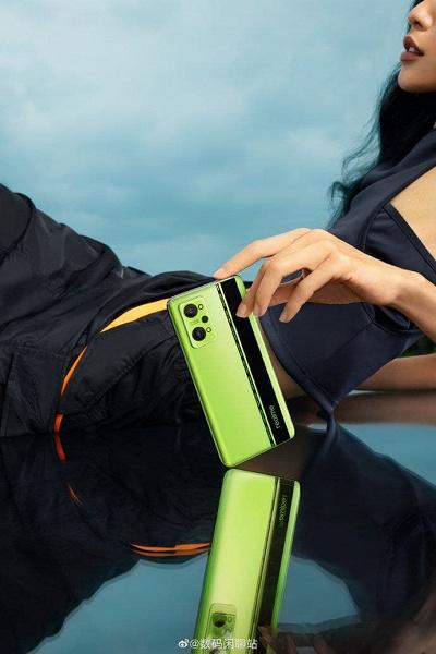 5000 мА·ч, Snapdragon 870, экран AMOLED 120 Гц, 64 Мп и 65 Вт. Это характеристики Realme GT Neo 2, и вот как он выглядит