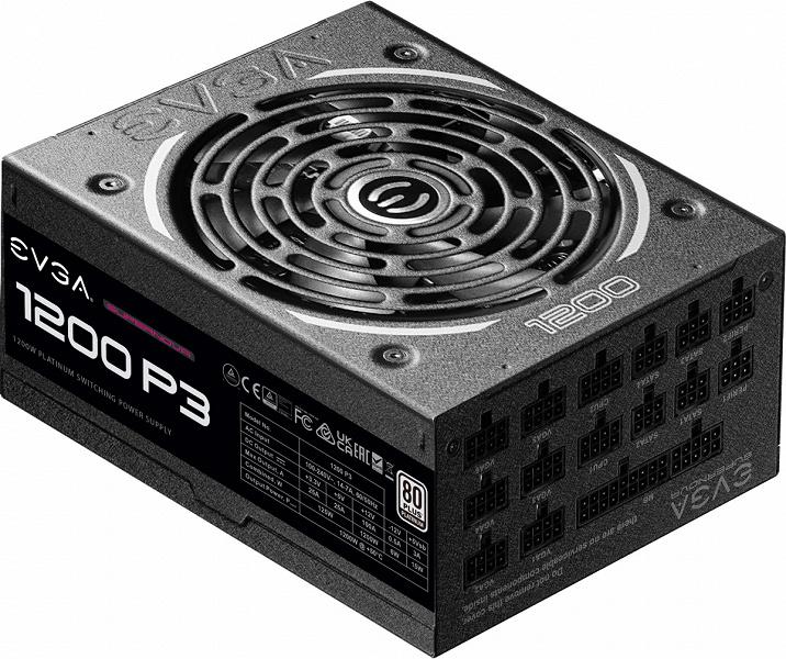 Серию блоков питания EVGA SuperNOVA P3 открыли модели мощностью 1000 и 1200 Вт