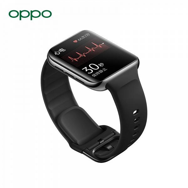 Экран AMOLED, eSIM, NFC, ЧСС и SpO2, 100 режимов тренировок и до 16 дней автономной работы. Представлены умные часы Oppo Watch 2 ECG