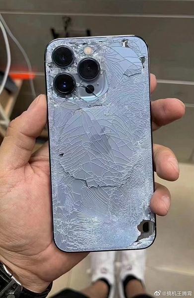 iPhone 13 Pro испытали на прочность. Первое фото разбитого смартфона