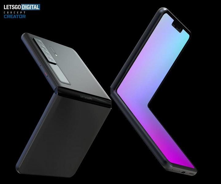 Так будет выглядеть раскладушка Huawei Mate V в духе Samsung Galaxy Z Flip 3: появились новые изображения