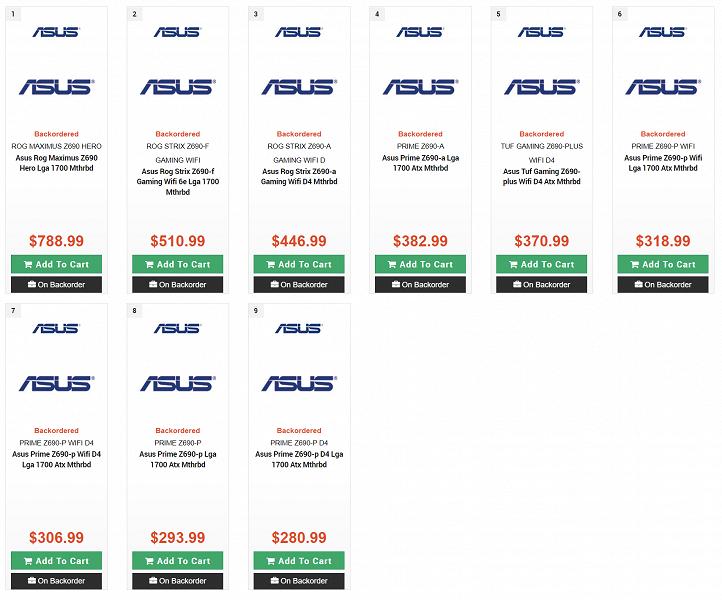 Материнские платы на чипсете Intel Z690 (для процессоров Intel Core 12) оказались не такими уж и дорогими. А топовые модели даже дешевле аналогов на Intel Z590