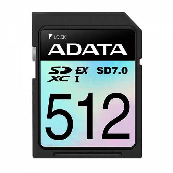 Компания Adata представила карты памяти Premier Extreme SDXC SD 7.0 Express Card
