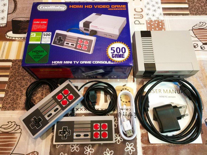 TomTop: Игровая ретро приставка NES 8bit COOLBABY 500в1 с подключением через HDMI