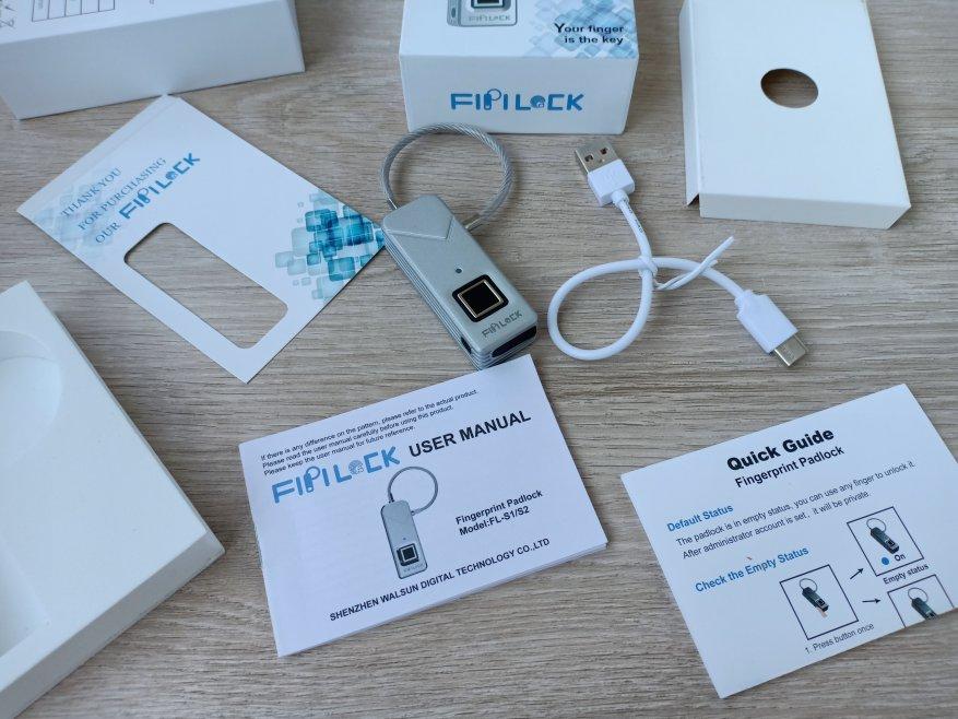 Магазины США: Навесной замок FIPILOCK (TRAVELOCK) с биометрической защитой
