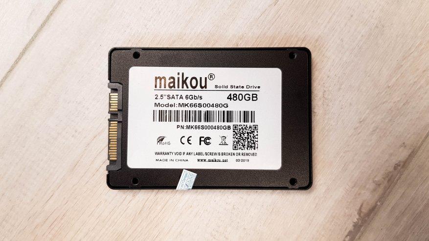 "TomTop: SSD-накопитель Maikou 480 ГБ 2,5"" SATA 6 Гбит/с: обзор и тестирование"