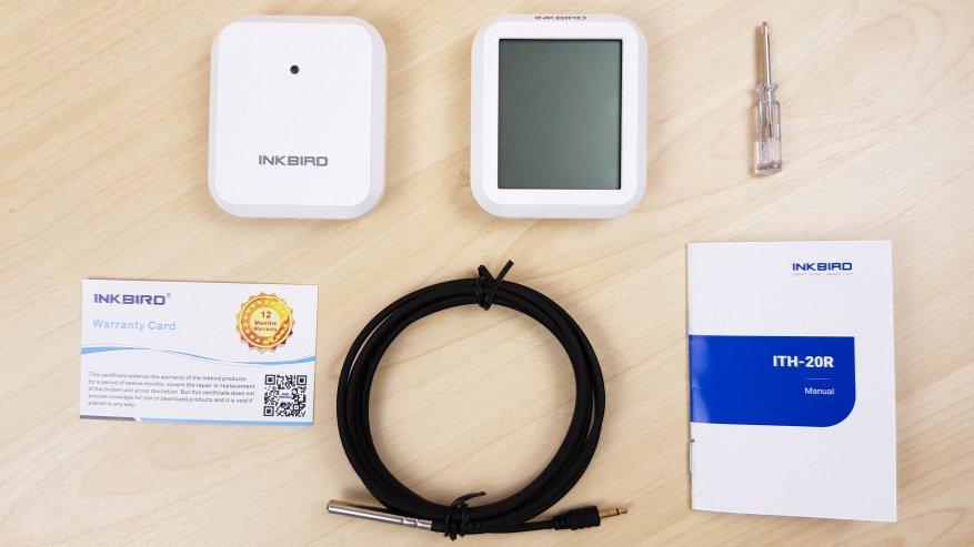 Inkbird ITH-20R: ترمومتر رقمي ومقياس رطوبة مع مستشعرات عن بعد للقياسات الداخلية والخارجية 1