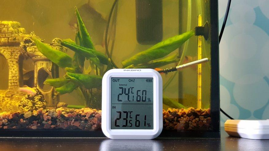 Inkbird ITH-20R: ترمومتر رقمي ومقياس رطوبة مع مستشعرات عن بعد للقياسات الداخلية والخارجية 24