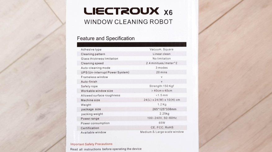 Роботизированный мойщик окон Liectroux X6: будущее уже наступило - цена